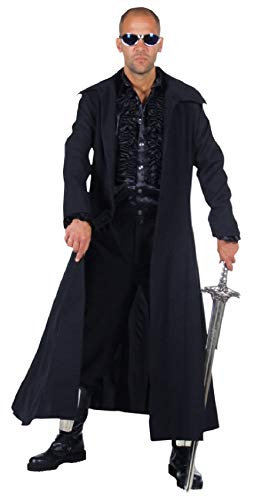 (M210235-XL schwarz Herren Mantel Umhang Vampir Dracula Gothic Kostüm Gr.XL)