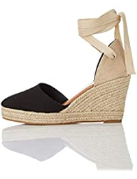 find. Wedge Close Toe Canvas Espadrille, Sandales Bout fermé femme
