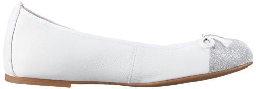 Unisa Damen Auto_17_st Geschlossene Ballerinas Weiß (White)