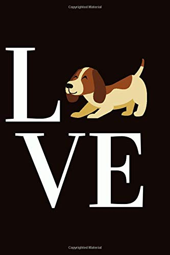 LOVE :Beagle And Dogs Lovers Gag Gifts,Cute Gift for Beagle Lovers: Lined Notebook / Journal Gift, 120 Pages , 6X9, Soft…