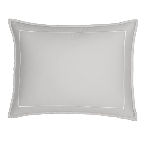 FlatIron Hotel Satin Stitch King Sham Grey/White