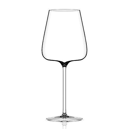 Italesse Set 6 Etoilé Noir Verre à pied pour vin rouge cc. 790 transparent