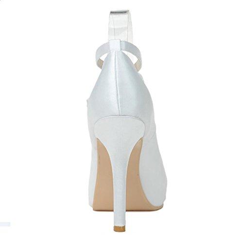 LEI&LISatin chaussures femme Printemps / Eté / automne / hiver talons / Round Toe mariage / fête & soirée talon aiguille noir / bleu / rose / violet Champagne