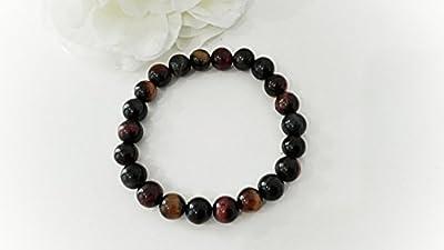 bracelet gemmes de protection oeil de tigre, oeil de faucon, oeil de taureau -gemmes semi précieuses, bracelet unisexe, cadeau elle et lui lithothérapie,cadeau amitié