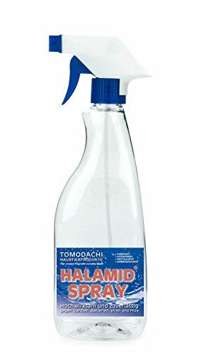 Giardien, Katze, Halamid Desinfektion, 10g Halamid für 2 prozentige, sprühfertige 500ml Desinfektionslösung zur Giardienbekämpfung. Mit Leitungswasser auffüllen, vor Gebrauch schütteln, desinfizieren. - Desinfektionslösung