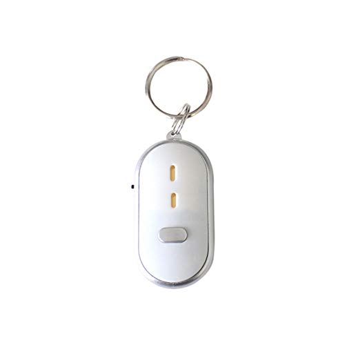 ERMEI Schlüsselanhänger - Pfeife zum Finden eines verlorenen Geräts, elektronischer Schlüsselbund (10 Stück pro Packung) 10 Stück pro Packung - Weiß-Weiß