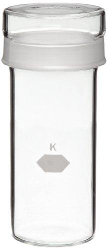 KIMBLE 15146–40100hoch Zylindrische Gewicht Flasche mit Kurz Länge Gelenk 40mm x 100mm, 92ml (6Stück)