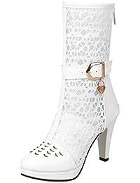 Amazon.it  Stivaletti Estivi Donna - 8 - 12 cm   Scarpe da donna ... acca9613523