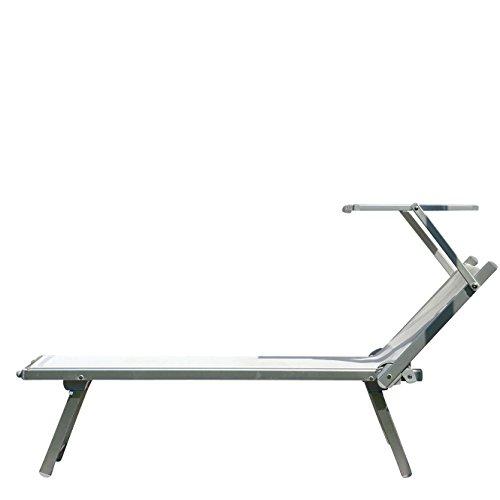 Jan Kurtz Rimini Classic Sonnenliege, weiß Kunststoffgewebe BxHxT 182x74x73cm 3-fach verstellbar...