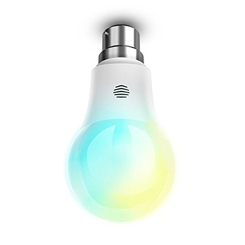 Hive Light Cool to Warm White Smart Bulb with B22 Bayonet, Works with Amazon Alexa