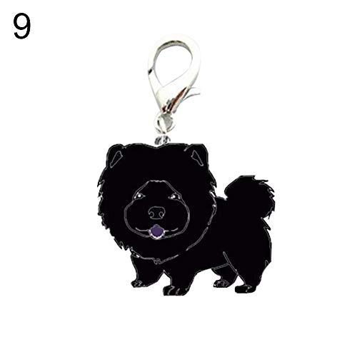 gzzebo Hundemarke mit Namensanhänger, Metall, 9# -