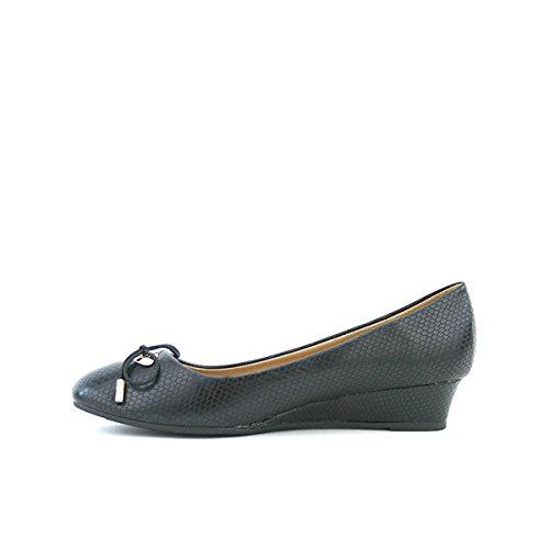 Cendriyon, Compensée Façon Reptile INA Chaussures Femme Noir