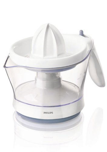 Philips HR2744/41 Viva Collection Citrus Press, 0.6 Litre, 25 Watt - Bright White with Blue Accents by Philips