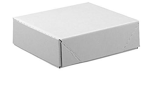 20 Kartons mit abnehmbarem Deckel 1-wellig / weiß / 33,8 x 23,8 x 9,2 cm (LxBxH)