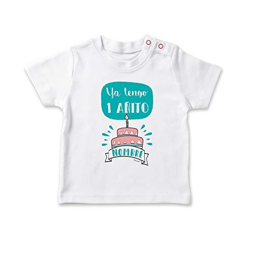 SUPERMOLON Camiseta bebé Ya tengo añito Blanco 1-2