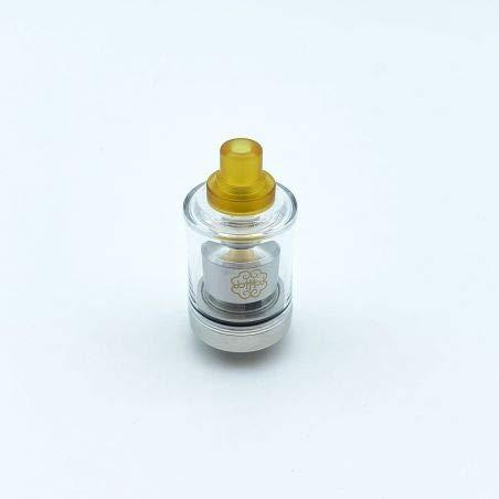 Dotmod Dot Tank MTL RTA Single-Coil 22mm für E-Zigarette, 2 ml Flüssigkeit, Luftstrom einstellbar und von oben aufladen silber/schwarz Geek Dot