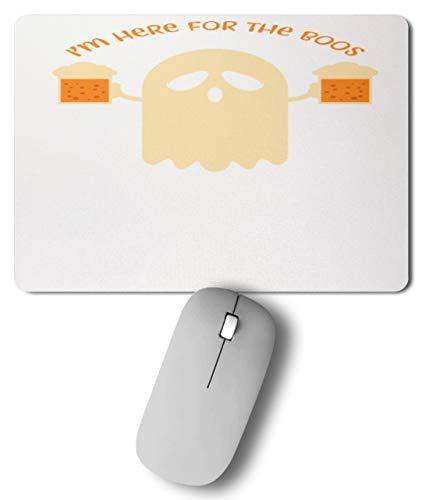 Here For The Boos - Mann, Männer, Junge, Jungen, Boy, Boys, Bier, Halloween, Gespenst - Mousepad -27cm x 19cm- ()