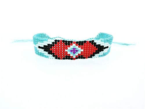 ZUXIANWANG Damenarmband,Handgefertigte Seedbeads Freundschaft Armband Perlen Benutzerdefinierte Mehrfarbig Auge Freundschaftsbänder Für Frauen Männer 2019
