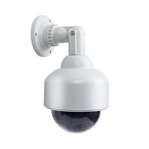 2X Professionelle Speed Dome Überwachungskameras Dummy Outdoor Kameras Dummy Kamera Attrappe mit Objektiv, Kabel und blinkled Videoüberwachung Warensicherung - Dummy Videoüberwachung