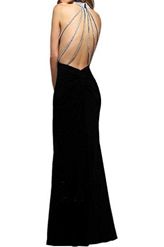 ivyd ressing Femme Moderne col montant rueckenfrei pierres Étui ligne Party robe Prom Lave-vaisselle robe robe du soir Schwarz