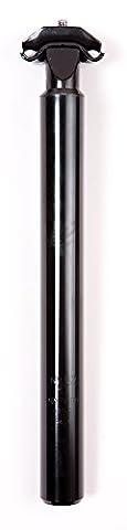 BLACK MICRO ADJUSTABLE BIKE CYCLE SEATPOST 30.0mm Diameter 300mm Long ALLOY