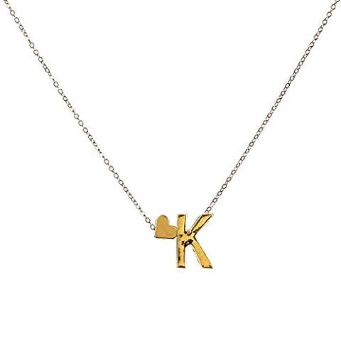 OverDose 26 englisch Buchstaben Name Liebe Herz Kette Anhänger Halsketten Schmuck Necklaces Jewelry (K)