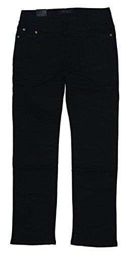 Vidy\'l Damen Stretch Jeans Hose Schlupfjeans, schwarz (C2) LY-520, Gr.42 W33