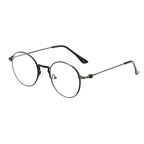 Deylaying Frauen Männer Optische Gläser Metall Rahmen Brille Retro Klar Harz Linsen Eyewear