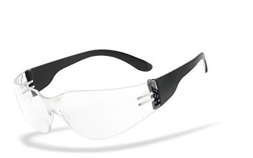 HSE SportEyes® | UV400 Schutzfilter, HLT® Kunststoff-Sicherheitsglas nach DIN EN 166 | Sportbrille, Radbrille, Sonnenbrille| Brillengestell: schwarz, Brille: Sprinter 2.0