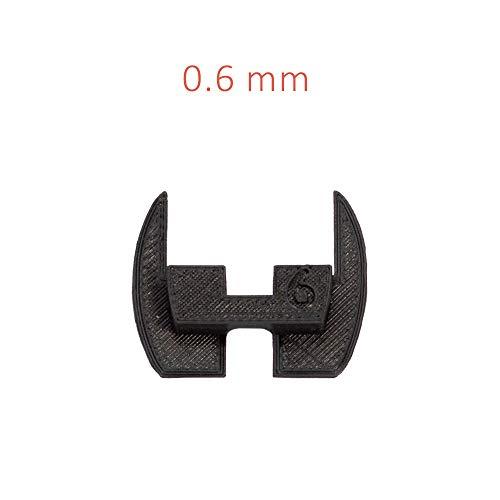 Flexibel Lenkungs-Scharnier Dichtungen, Auflagen, Anti Slack Erschütterungs Dämpfer für Elektroroller Xiaomi Mijia M365 / M187. 3D-Druck Flex-Gummi-Modifikation Teile (Schwarz: 0.6 mm) -