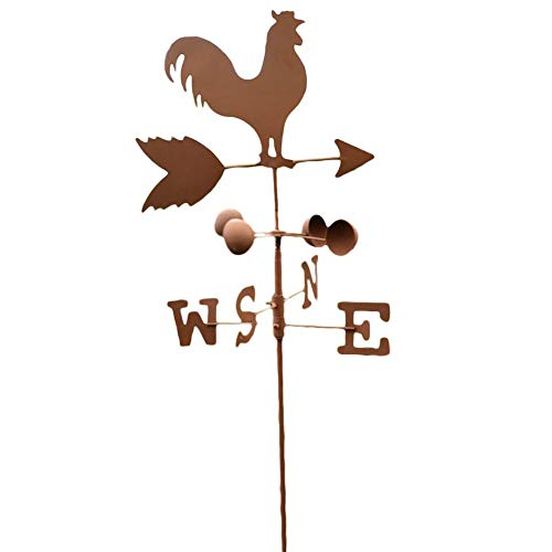 Loveinwinter Traditionelle Hahn Wetterfahnen Metall Eisen Hahn Windfahne Vintage Windgeschwindigkeit Richtungsanzeiger Garten Terrasse Hof