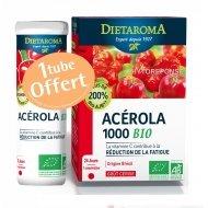 Acérola 1000 Bio Goût Cerise + 1 tube offert - 36 comprimés