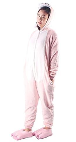 Arkind Pyjama Adulte Femme Homme Fille Garçon Adulte Animal Costume Cosplay Pyjama + Chaussons Halloween Costume Soirée Cadeau
