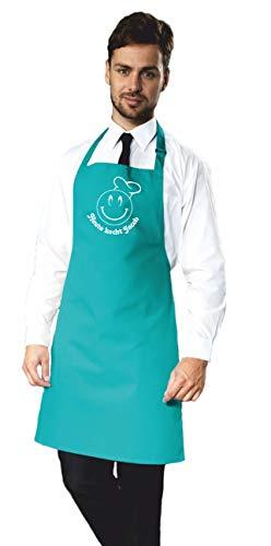 freitex Kochschürze individuell bedruckt mit Name und Koch-Smiley (Duckegg)