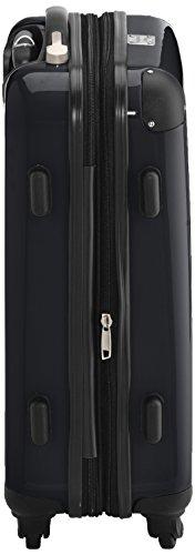 HAUPTSTADTKOFFER - Alex - 2 x Handgepäck Hartschale glänzend, TSA, 55 cm, 42 Liter, Graphit-Apfelgrün Schwarz-Silber