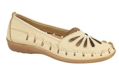 LD Outlet , Damen Mokassins Beige