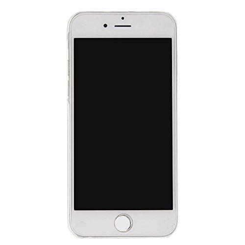 Voguecase Für Apple iPhone 7 4.7 Hülle, Flüssig Fließende Sparkly Bling Glitzer Treibsand Quicksand (Harte Rückseite) Hybrid Hybrid Hülle Soft Edge Schutzhülle Case Cover (Glühen/Treibsand/QQ Ausdruck Treibsand/Lila