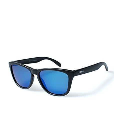 OCEAN SUNGLASSES Sea-Sonnenbrille Unisex Einheitsgröße Schwarz (Negro Mate/Azul revo)