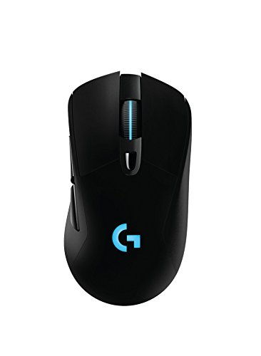 Logitech G403   Ratón óptico inalámbrico/con cable para gaming (12.000 DPI, conexión inalámbrica a 2,4 GHz, PC, MAC, USB), color negro