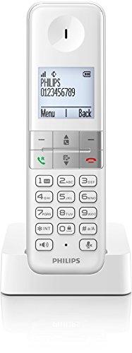Philips D4501W/38 schnurloses Telefon (4,6 cm (1,8 Zoll) Display, HQ-Sound, Mobilteil mit Freisprecheinrichtung) weiß