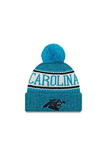 New Era ONF18 Sport Knit Bommelmütze Carolina Panthers Blau, Size:ONE Size