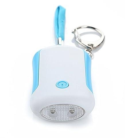 gritech 120dB alarme personnelle porte-clés d'urgence avec flash LED et cordon Rip, de sécurité/Attack/Protection/panique/Self Defense portable le loup d'alarme pour Jogger, enfants, étudiants, femmes, bleu, 12 voltsV
