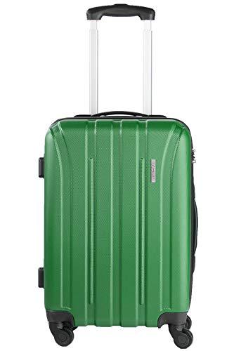 NOWI Paris M Bordgepäck Handgepäck ABS Hartschale Trolley Reisekoffer Gepäck Zahlenkombinations Schloss 4 Rollen 40l Volumen (grün)