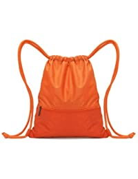 Travel Drawstring Storage Bag Light Weight Swimming Backpack-Small-Orange
