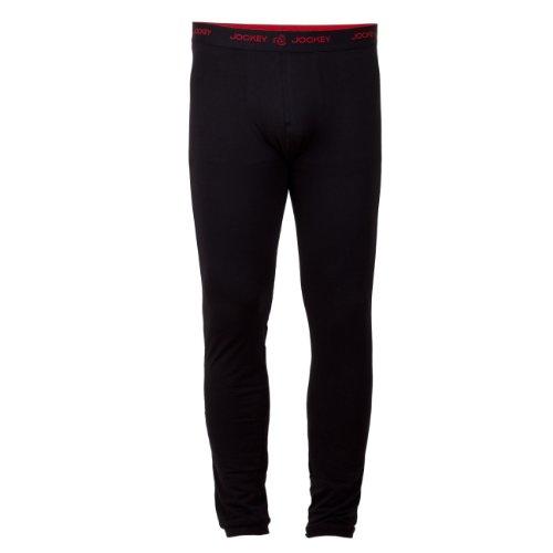 Jockey Herren Long Pant 22150411-999 lange Unterhose 1er Pack schwarz (Lange Jockey Unterhosen)