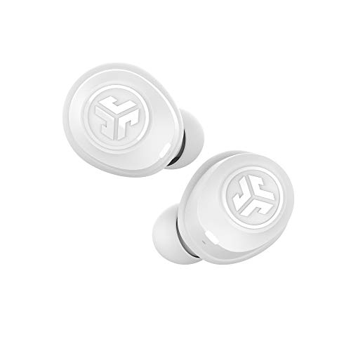 JLab Audio JBuds Air True Wireless Signature Bluetooth Earbuds + Charging Case - White - IP55 Sweat Resistance - Bluetooth 5.0 Connection - 3 EQ Sound Settings: JLab Signature, Balanced, Bass Boost Best Price and Cheapest
