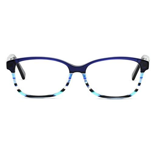 OCCI CHIARI Brillenrahmen Optische Brillen Rahmen Green Brille Optische Gläser Vintage Metall Oval Brille Leichte Brillen Full Damen...