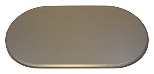 Werzalit Tischplatte, Oval Metallic, grau, 120 x 65 x 2.2 cm, 51000343T (Ovale Tischplatte)