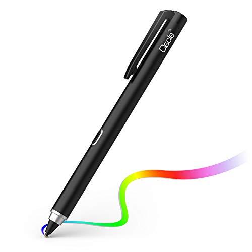 Digitaler Stylus Stift, Ciscle Stift mit 5 Min Auto Off und 1.5mm Feiner Kupfer Spitze, Aufladbarer Stylus Stift für Tablets Kompatibel mit Touch Screen Geräten wie Samsung, Android Tablets (Schwarz) (Digital Pen-tablet)