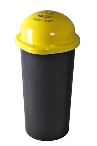 *KUEFA 60L – Mülleimer Müllsackständer mit Laserbeschriftung (Gelb, Gelber Sack)*